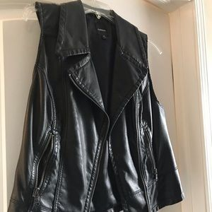 Express faux leather vest